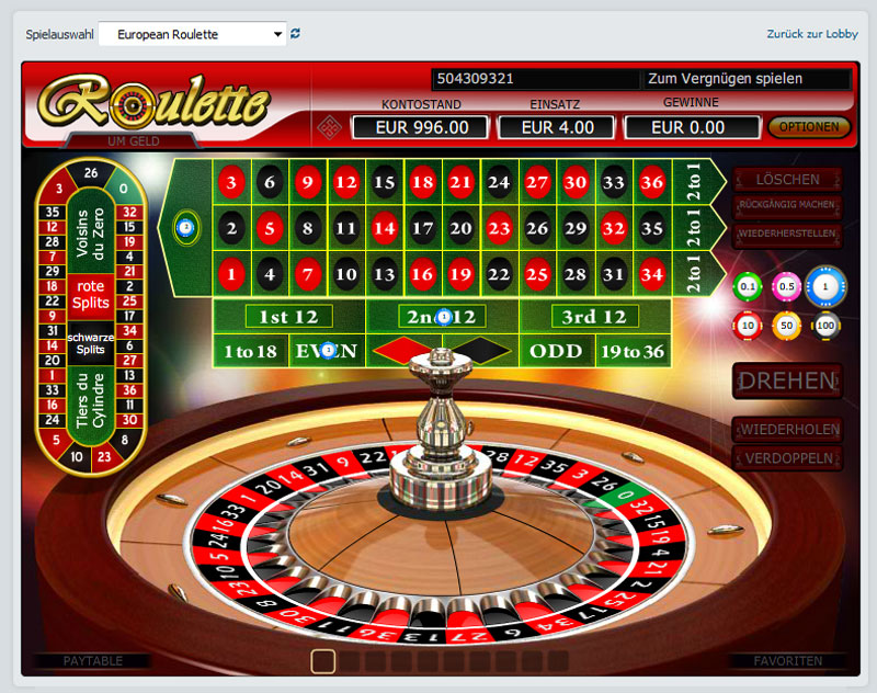 Bet at home roulette