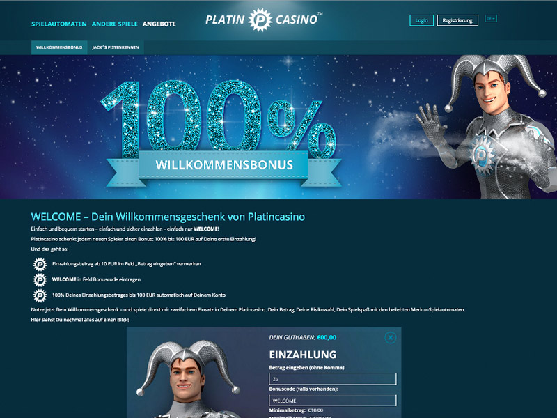 Online Casino Spiele | Platincasino